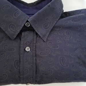 Report Collection paisley button down long sleeve